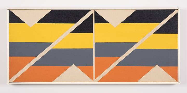 Larry ZOX (American 1937-2006) Multi from Zone I 1965 Acrylic on canvas 12 x 28 in.
